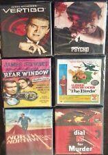 Custom Set of Six Alfred Hitchcock Movie Coasters - Psycho, Vertigo, The Birds..