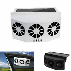 Portable Solar Cooling Fan Truck Auto Vehicle Cooler Car Quiet Air Conditioner
