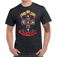 Guns N' Roses Cross Men T-Shirt Funny Graphic Shirt Cotton Short Sleeve Top Tees