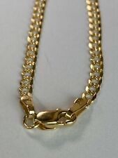 10k ITALY Yellow Gold Cuban Link Ankle Bracelet Chain  Anklet Ladies Women Teen