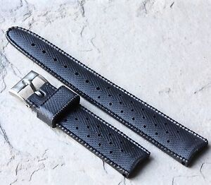 Swiss SUB 18mm divers watch band thick rubber 1960/70s OLD STOCK DIVER STRAP
