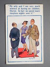 R&L Postcard: New Donald McGill, 1014, Doctor, No Children Man