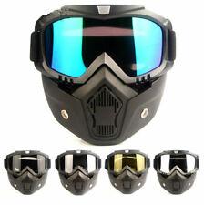 Face Modular Motorcycle Shield Helmet Goggles Riding Sun Glasses Eyewear