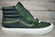 Vans SK8-Hi Reissue ST Premium Leather Multi G Green Black White Shoes - Size 8