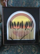 "Virgil Thrasher Print on Glass ""Wheat"" SHADOW BOX SIGNED"