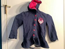 Disney MINNIE MOUSE Blue & Pink Hoodie Girls Toddler 4T Ruffle Bottom