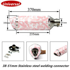 370 mm/14.56 inch Pink Motorcycle ATV Exhaust Muffler Pipe For Girl Maiden Woman