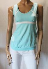 Target Brand Pale Blue White Stripe Support Tank Sportswear Size 10-S BNWT #Si42