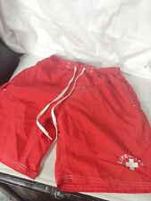 USA Water Safety Products Board Short Shorts Lifeguard Red Trunks Size S. 8