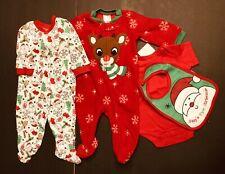 Christmas Baby Outfits, Rudolph, 4-pieces, 3 Month, NWT