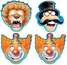 Big Top Birthday Masks, Pack of 8