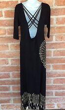Long Party Date Dress 1 Size fit M XL 3/4 Sleeve Spandex Tie Dye Boho Kathmandu
