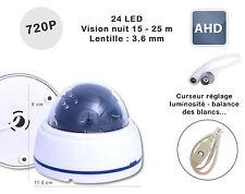 Camera surveillance Dome CCTV DC-350 AHD IR 24 LED 720P COULEUR Plastique NUIT