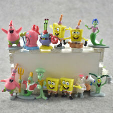 SpongeBob SquarePants Action Figure Display Figurines Set Cake Topper Decor Toy