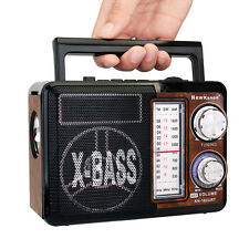 X-BASS Portable FM AM SW Table Radio MP3 Karaoke Player LED flashlight Handheld