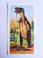 Brooke Bond Prehistoric Animals tea card 17. Tyrannosaurus rex. Dinosaurs.