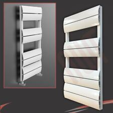 "500mm (W) x 1000mm (H) ""onda"" White Designer in alluminio porta asciugamani (2362 BTU)"