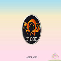 Fox Kojima Embroidered Iron On /Sew On Patch Badge For Clothes etc
