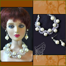"""handmade Tonner Tyler 16"""" doll jewelry set necklace earring for Tonner and BJD"""