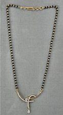 Antique Diamond Onyx beads & 18K Gold Necklace