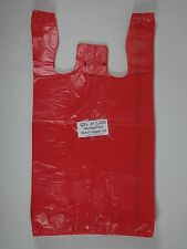 1000 Qty Red Plastic T Shirt Retail Shopping Bags With Handles 115 X 6 X 21