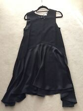 New with tags H&M Trend Wide Dress in Black Satin UK 12 EUR 38
