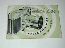 notice RICOH 500 en anglais english photo photographie