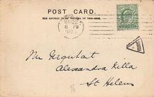 MACHINE CANCELLATION : 1905 London COLUMBIA machine +triangular SCOTCH /5
