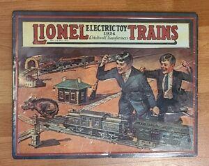 Lionel Trains Tin Metal Sign 1924 Catalog Cover Hallmark NEW IN SHINKWRAP 14x11