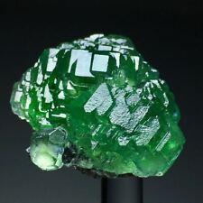 57g Natural Translucent Trapezoidal Ladder BrightGreen Fluorite Crystal Specimen