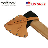 Tourbon Leather Lanyard Axe Holder Blade Sheath Hatchet Protective Cover Brown
