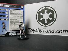 Star Wars Miniatures Clone Commander Bacara Champions of Force  w/ Card mini RPG