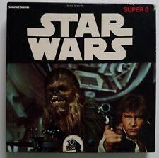 Vintage 1977 STAR WARS Super 8 Film Reel Selected Scenes Black & White Ken Films