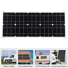 50W/100W Solar Panel kit Battery Charge Caravan Boat Home w/ USB Interface R6N3