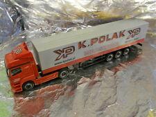 ** Herpa 152112 Mercedes Benz Axor Canvas Semitrailer  Polak 1:87 Scale