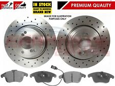 FOR AUDI A4 B8 A5 2008- FRONT DRILLED BRAKE DISCS AND MEYLE PADS SET 314mm