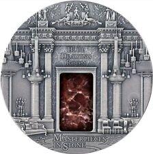 2014 3 Oz BLUE DRAWING ROOM Buckingham Palace Silver Coin 10$ Fiji.