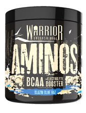 Warrior Aminos 30 Servings Amino Acids Powder Intra Workout All New Blue Razz