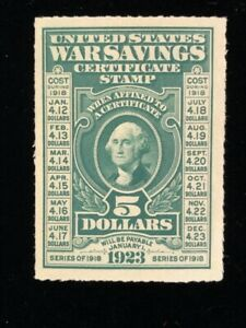 U.S: UNUSED #WS3 PARTIAL OG, TINY GUM THINS, W/PF CERTIFICATE CV $1,200