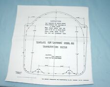 GARRARD 301 MOUNTING TEMPLATE - A HIGH QUALITY PERFECT COPY