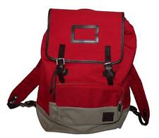 AUTH Fred Perry Men's Cotton Rucksack Red Backpack Bag