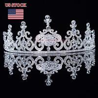 NEW Rhinestoned Wedding Bridal Tiara Crown Prom Pegeant Headpiece Veil Headband