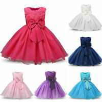 Stylish Flower Girl Princess Dress Baby Kid Party Wedding Formal Tutu Dresses