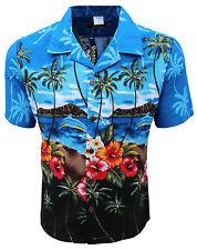 Hombre Camisa hawaiana Aloha Hawai Palmera Árbol Vacaciones Playa Piscina Fiesta