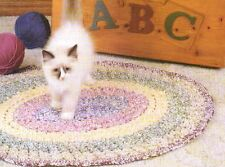 BRAIDED LOOK OVAL RUG CROCHET PATTERN INSTRUCTIONS