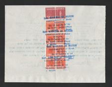 ITALY REVENUE MARCHE DA BOLLO -1969 CONTRATTI DI BORSA - DOCUMENTO CON MARCHE