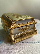 Vintage Japan Grand Piano Jewelry Trinket Music Box - Plays Memories