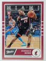 2019-20 Panini Chronicles Classics Kendrick Nunn Rookie RC #650, Miami Heat