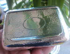 Edwardian Silver Table Snuff Box 132 grams - h/m Chester 1904 by Colen Cheshire