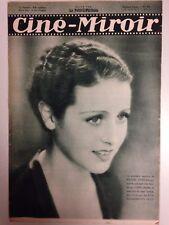 CINE MIROIR N°384 12 AOUT 1932 COUV ROSINE DEREAN